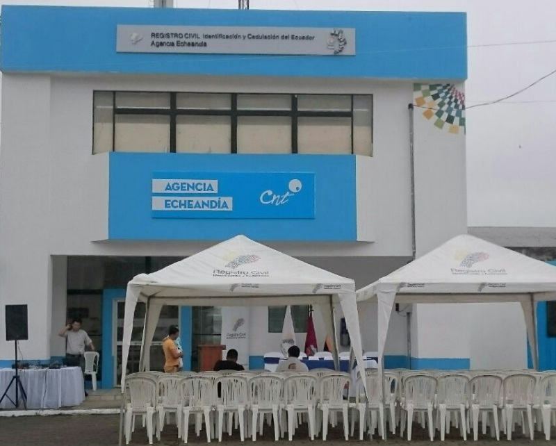 CNT Y REGISTRO CIVIL COMPARTEN AGENCIA  EN ECHEANDÍA Y CHILLANES